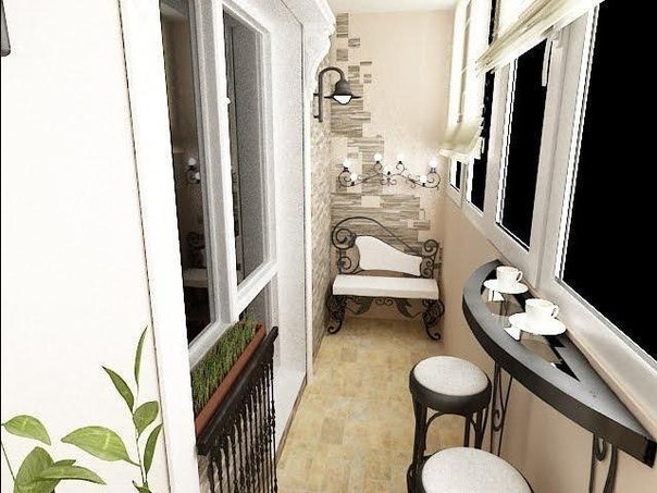 Дизайн для балкона лоджии фото